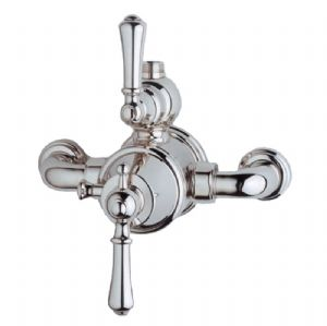 5751 Perrin & Rowe Georgian Exposed Thermostatic Shower With Lever Handles